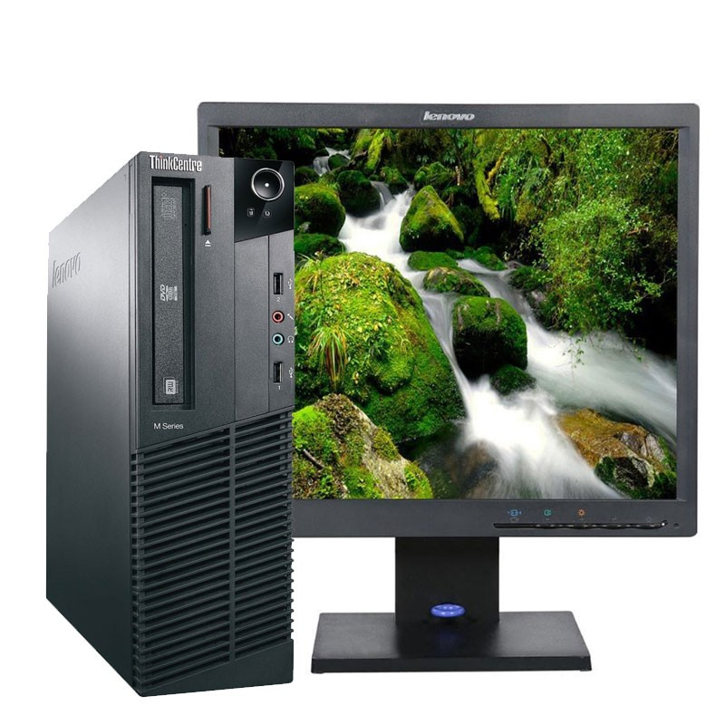 PC con Pantalla Lenovo M81 Core I3 3.1/4GB/250 HD/W7/17""
