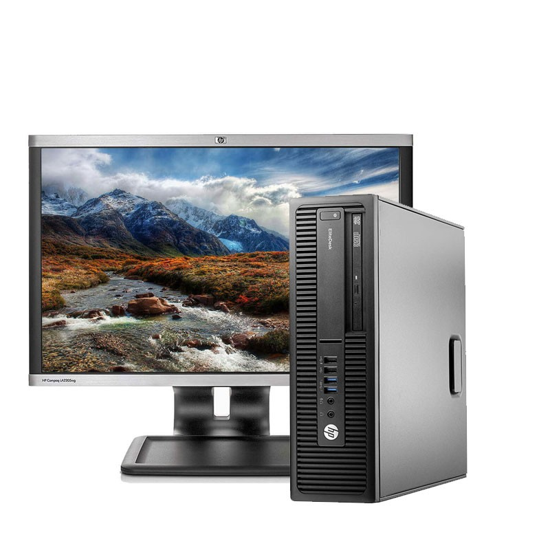 "HP 800 G2 I5-6ª/8 GB/128 SSD / W10/HP de 22"""