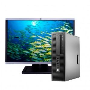 "PC con Pantalla HP 800 G1 I7/8GB/500GB HD/DVDRW/W10 Pro/22"""