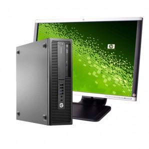 PC con Pantalla HP 800 G1 I7/4GB/500GB HD/DVDRW/W10 Pro/24""